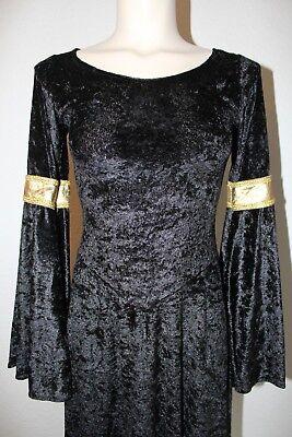 Elegantes Gothik Kleid / Kostüm mit raffiniertem Schnitt -wenig - Kostüm Mit Langen Schwarzen Kleid