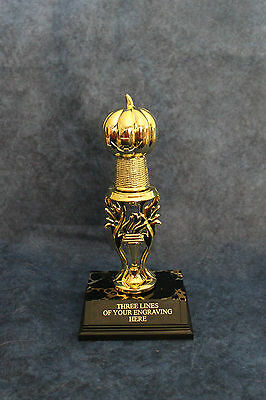 Pumpkin Trophy -. FREE ENGRAVING!!!!  Great for Halloween or costume contests!](Costume Contests)