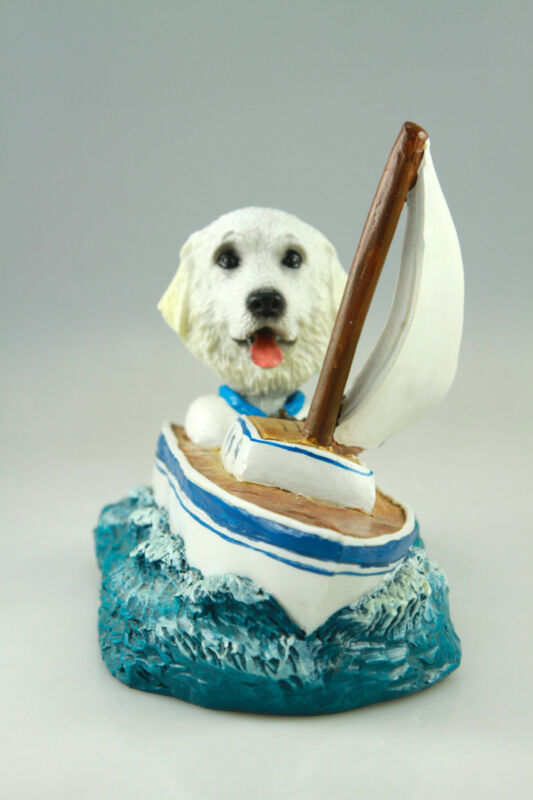 SAIL BOAT GREAT PYRENEES SEE INTERCHANGABLE BODIES & BREEDS @ EBAY STORE