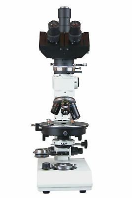 Trinocular Polarizing Ore Geology Microscope W Reflected Light Camera.