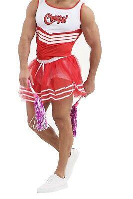 Boy Cheerleader Costume (BOYS MENS CHEERLEADER COSTUME CHEER LEADER OUTFIT CHEERS FANCY DRESS HIGH)