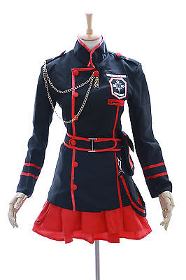 MN-15 Lenalee Lee D.Gray-Man Hollow schwarz Uniform Cosplay Set (Lenalee Lee Cosplay Kostüm)