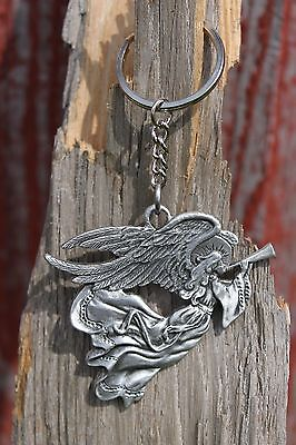 Hastings Pewter Lead Free Pewter Angel Keychain gift key chain holiday metal NEW
