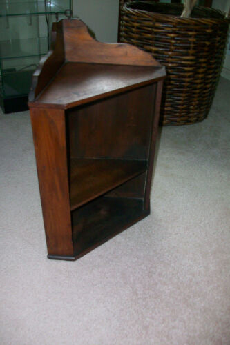 Antique Primitive Wooden Corner Shelf Display curio