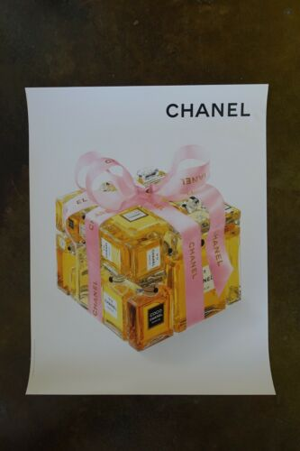 """22""""x28"""" Chanel Coco 5 19 parfum bottles perfume Advertising affiche Poster Ad"""