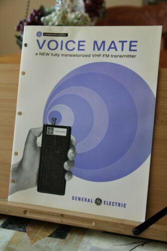 General Electric GE Voice Mate VHF FM Transmitter Vintage Brochure 1960