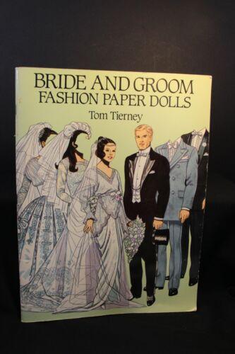 Book - Bride and Groom Fashion Paper Dolls - Tom Tierney- Un-Cut