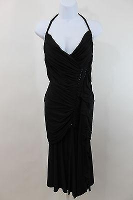 Donna Karan Collection Ruched Halter Dress  SZ S