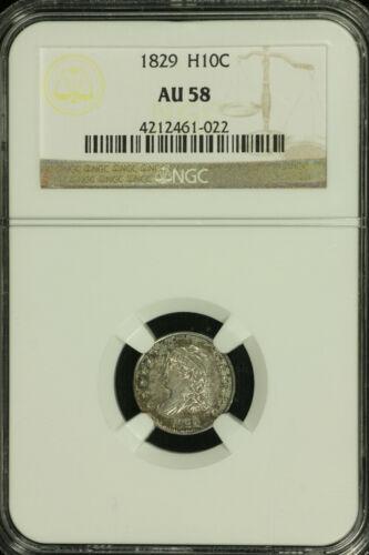 Cap Bust Half Dime. 1829 P NGC AU 58  Lot # 4212461-022