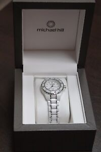 Michael-Hill-Diamond-white-Ceramic-amp-Stainless-Steel-ladies-watch
