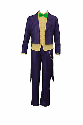 Arkham City Outfits (The Joker Batman Arkham City Cosplay Costume Clown Villain Outfit V2)