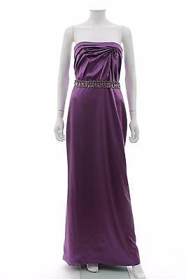 Versace Silk Draped Strapless Silk Gown W/Crystal Embellished Belt / RRP: £5,995