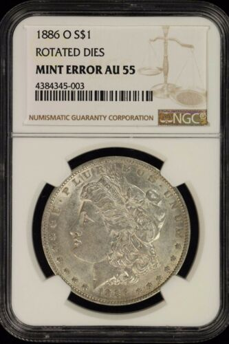MINT ERROR-RARE 1886-O Morgan Dollar NGC AU-55- error