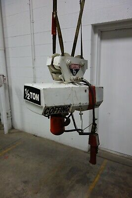 Used Coffing 12 Ton Electric Chain Hoist Trolley Ec-1032-3 3ph 10 Ft