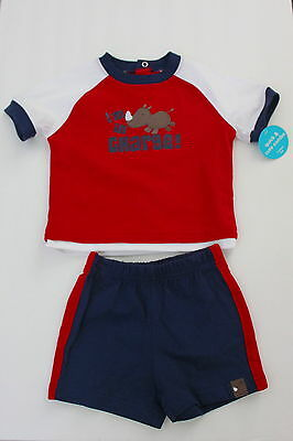 Baby Carter's Clothes Newborn Size 6 mos Two Piece Short Set Red 6 Months Infant