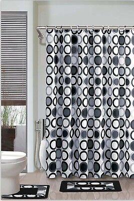 Empire Home 15-Piece Black & Gray Bathroom Set Rugs - Free Shipping!