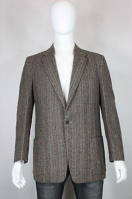 Vintage wool fleck blazer M 50's atomic sportscoat striped 50's hollywood