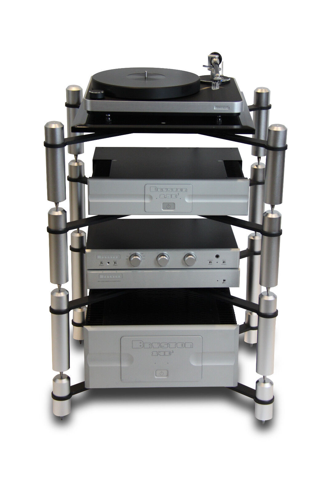 extrema evolution x14 4 shelf modular ultra durable stereo hifi audio rack ebay. Black Bedroom Furniture Sets. Home Design Ideas