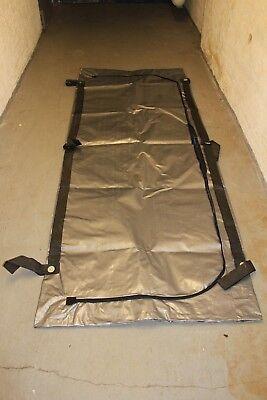 Leichensack Body Bag Unfallhülle Bergungshülle Wasserdicht mit Innensack silber