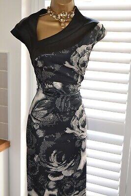 ~ KAREN MILLEN ~ Amazing Fitted Bodycon Wiggle Dress Size 16