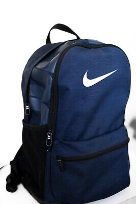 Nike Brasilia Medium Backpack Sports Bags School Travel Casual Navy BA5329-410