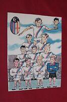 Tavola Originale Ill.bertino - Calcio Bologna Formazione 1966 -  - ebay.it