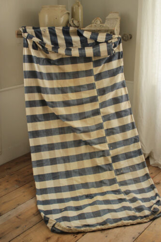 Fabric Blue check linen & cotton 1700