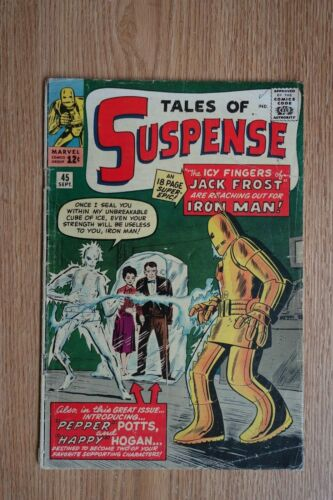 Marvel Tales of Suspense #45 (Sept,1963) Intro & 1st app. Happy & Pepper