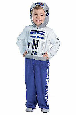 R2D2 PREMIUM Deluxe Star Wars Kids Toddler Costume 18 24 months 2T 3T 4T 3 4 XS - R2d2 Costume Child