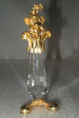 1980's Vintage Swarovski Trimlite Clown w/Suspenders Crystal & Gold Figurine