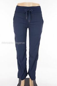 LULULEMON-Dance-Studio-Pants-2-Reg-XS-Blue-Pinstripe-Unlined-Yoga-Run