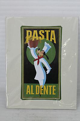 NEU! Disney Art Print Pasta Goofy Pasta al dente by Brian Blackmore 45,5x35,5