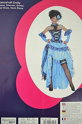 Palmers Erwachsene Dancehall Puppe Blau Halloween - Dance Hall Kostüme