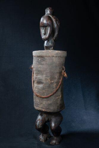 Fang, Reliquary Vessel, Central Gabon, Equatorial African Tribal Art.