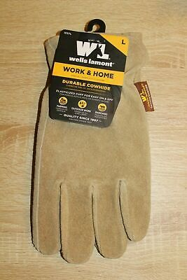 New Wells Lamont Work Home Durable Cowhide Gloves
