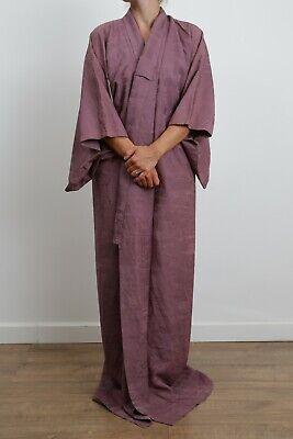 Authentic traditional vintage Japanese rinzu silk kimono
