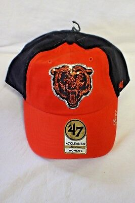 Chicago Bears - Womens Navy Two Tone Sparkle Ball Cap