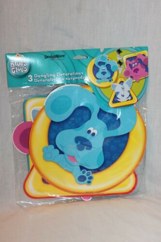 NEW BLUES CLUES 3 DANGLING DECORATIONS PER 1  PACKAGE PARTY SUPPLIES