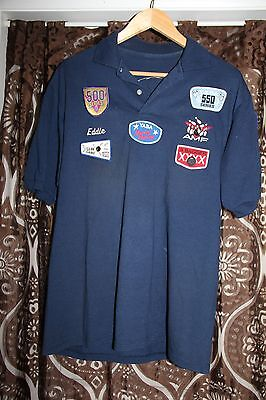 SHORT SLEEVE BOWLING SHIRT WITH PATCHES name Eddie Embroidered  B6