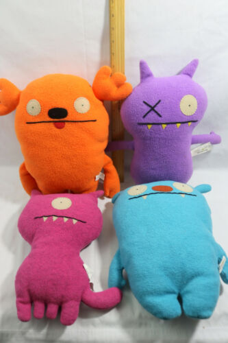 "Lot of 4 - UGLY DOLL Stuffed Plush Toys - 11-13"" - Kasoogi - Uglydog - Big Toe"