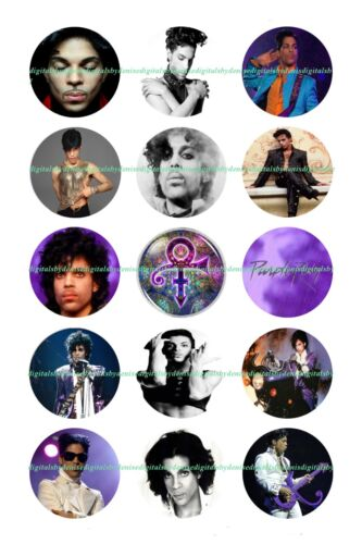 """PRINCE 1 """" CIRCLES  BOTTLE CAP IMAGES. $2.45-$5.50 FREE SHIPPING"""