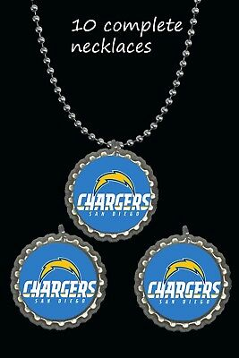San Diego chargers Necklaces football party favors lot of 10 necklace nfl ](Nfl Party Favors)