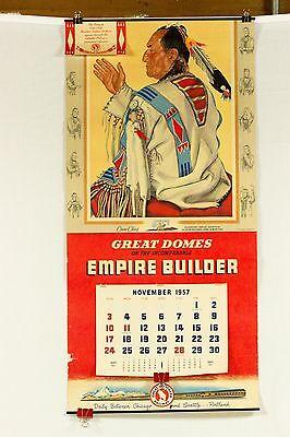 Crow Chief Blackfeet Great Northern Railroad Railway Calendar Indian