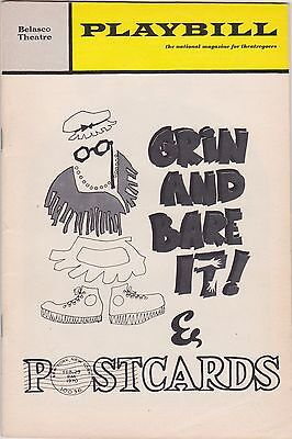1970 Playbill Grin and Bare It! & Postcards