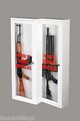 zombie emergency break glass gun cabinet u2013 display case wall mountable