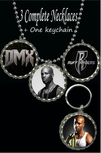 Dmx necklaces & keychain necklace photo picture lot rapper ruff ryders 4 piece