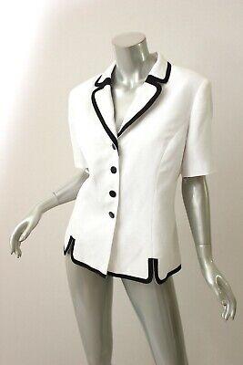 SUIT STUDIO White/Black Button Down Suit Top 14 - Black Button Studio