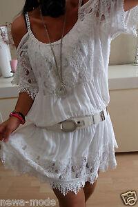 Tunika Kleid Neu L 42 ITALY BLOGGER Trend Hippie Boho Shirt Musthave Vintage XL