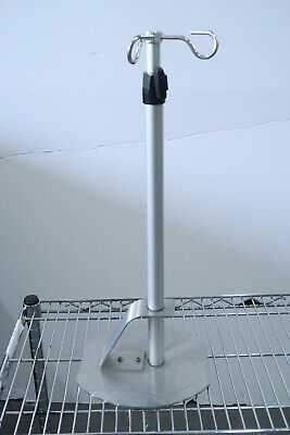 2x Medical Dual Iv Bag Table Bench Top Stands Poles Collapsing 20 - 32 Height