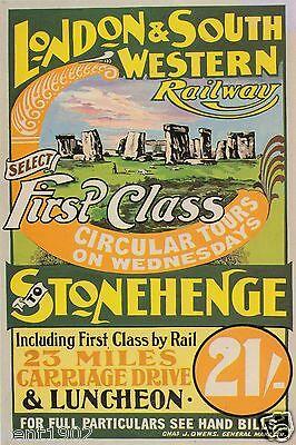 Vintage Railway Advert Jumbo Fridge Magnet Stonehenge